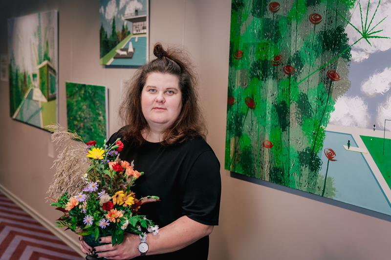 Oткрылась персональная выставка художницы Сандры Стреле